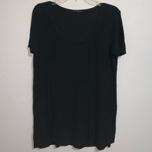 Brandy Melville T Shirt One Size Scoop Neck Ribbed